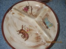 Vintage Cowboy Western Motif Dinnerware by Del Coronado 41 Pieces in Alamogordo, New Mexico