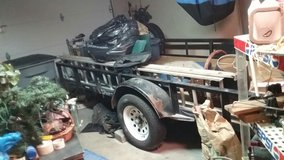 12ft x 9ft flat bed trailor 3 New Tires, New treated wood floor Bed, New tail lights 16ft long f... in Lawton, Oklahoma
