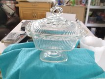 clear  cut glass  candy dish in Alamogordo, New Mexico