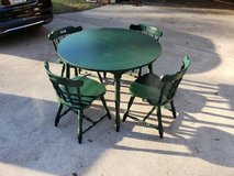 Green Kitchen Table With Four Chairs! in Warner Robins, Georgia