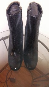 Black Sequin Boots Size 7 (New) in Bartlett, Illinois