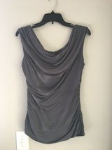 Maurices Grey Cowl neck Draped Ruched Blouse in Las Vegas, Nevada