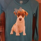 Girls Size 12 JUSTICE Puppy Blue Top in Fort Polk, Louisiana