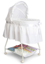INFANT Baby BASSINET White Boy or Girl Crib Bed in Yucca Valley, California