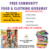 Free Food and Clothing Giveaway in Kingwood, Texas