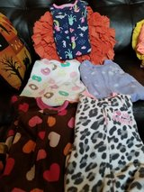 5 Pairs Baby Girl Footed Pjs Size 12 Months in Fairfield, California