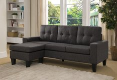 INVENTORY SALE! SOFA WITH REVERSIBLE CHAISE LINEN GREY SECTIONAL in Camp Pendleton, California