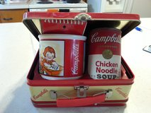 1998 Vintage Campbells Soup Lunchbox with mug, note pad, & can of soup in Camp Lejeune, North Carolina