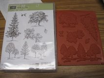 Stampin up Lovely as a Tree clear mount set- unused set of 6 in Oswego, Illinois