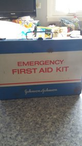 Antique, Johnson & Johnson First Aid Kit made of steel in Orland Park, Illinois