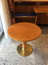 Round table 60cm diameter with brass base solid from HOTEL in Ramstein, Germany