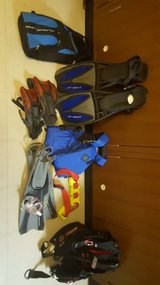 Assorted Dive Gear in Okinawa, Japan