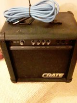 crate guitar practice amp w/ guitar cord in Fort Campbell, Kentucky