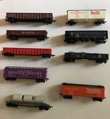 9 Vintage HO-Scale Train Cars Lot A in Lockport, Illinois
