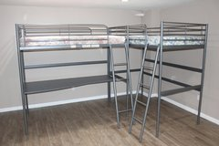 Metal Loft Twin Bed - mattress included in Spring, Texas