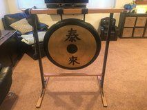 Gong on custom stand in Glendale Heights, Illinois