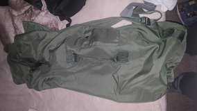 Green duffle bag in Travis AFB, California