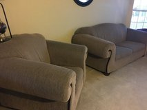 Couch (with pull out bed) and Chair in Naperville, Illinois
