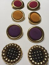 Metal/Fabric Pierced Earrings 3/$1 in Eglin AFB, Florida
