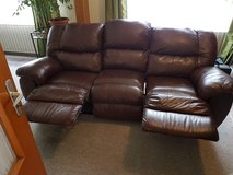Great DUAL Reclining Leather Couch in Ramstein, Germany