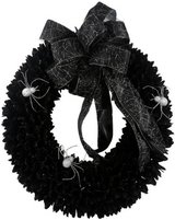 22 in Spooky Spider Wood Curl Wreath in Hinesville, Georgia