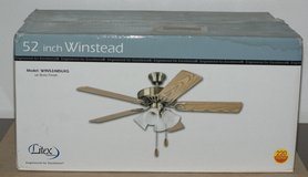 3x brand new 52 inch (132cm) Windstead ceiling fans from Litex Industries in Ansbach, Germany