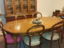 Thomasville solid Pecan dining table and china cabinet in Bolling AFB, DC