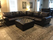 Dark Brown Sectional and Ottoman in San Antonio, Texas