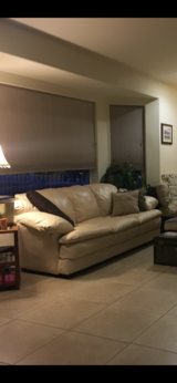Leather couch set in Yucca Valley, California