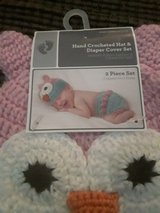 Brand new Hand crocheted hat and diaper cover set in Dickson, Tennessee