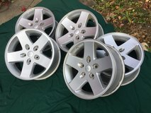 "Set of 5 Jeep 17"" Alloy Wheels in St. Charles, Illinois"