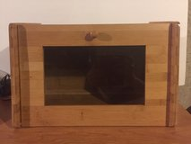 wooden breadbox with magnetic latch in Morris, Illinois