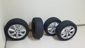 Stock Nissan Tires and Rims in Okinawa, Japan