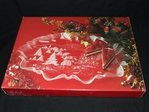 Mikasa Christmas Story Oval Canape Crystal Large Serving Tray NEW in Westmont, Illinois