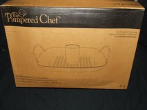 The Pampered Chef BBQ Roasting Pan & Can Holder NEW in Wheaton, Illinois