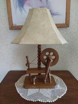 antique solid wood lamp in 29 Palms, California