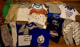 Boy's Clothes Lot - 3-6 Month Pants and Onesies in Okinawa, Japan