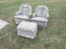 Two Swivel Chairs With Ottoman! in Byron, Georgia