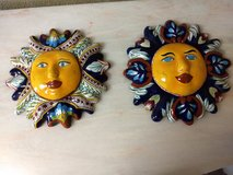Ceramic Sun Faces in Houston, Texas