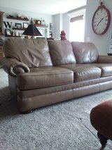 Genuine Leather Couch in Kansas City, Missouri