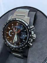 Citizen Men's 'World Time A-T' Quartz Stainless Steel Casual Watch,  (Model AT9071-58E) in Ramstein, Germany