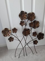 Floral metal wall hanging in Sugar Grove, Illinois