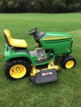 GREAT JOHN DEERE GARDEN TRACTORS AND MISC. ATTACHMENTS in Yorkville, Illinois