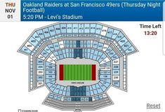 49er vs. Raiders November 1st (Levi Stadium) in Travis AFB, California
