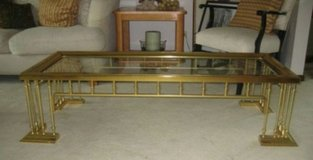 Solid brass table in Naperville, Illinois