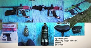 Paintball guns (2) with accessories in DeRidder, Louisiana
