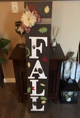 FALL wood entryway sign, handmade in Morris, Illinois