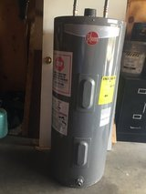 Brand new Rheem high efficiency electric water heater in Yucca Valley, California