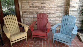 Three Adirondack Chairs in Spring, Texas