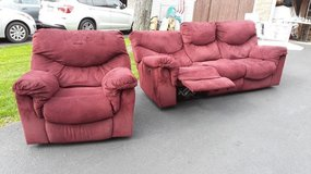 Power Reclining Couch and Matching Rocker/Recliner in Wheaton, Illinois